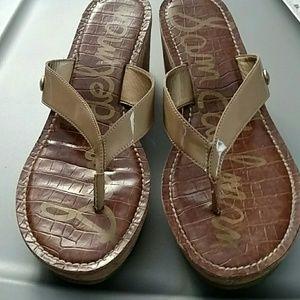 Sam Edelman Romy Faux Patent Sandal SZ 9M